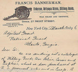 FRANCIS BANNERMAN MILITARY SURPLUS CATALOG OWNER AUTOGRAPH SIGNED LETTER 1896 - K-townConsignments