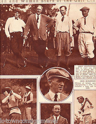 MEN & WOMEN STARS OF THE GOLF LINK VINTAGE NEWS PHOTO POSTER PRINT 1922 - K-townConsignments