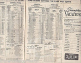 ATLANTIC COAST LINE FLORIDA VINTAGE GRAPHIC ADVERTISING RAILROAD TIMETABLE 1955 - K-townConsignments