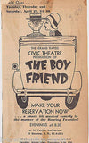 THE BOY FRIEND VINTAGE 1950s GRAND RAPIDS MI THEATRE PLAYBILL & SNAPSHOT PHOTOS - K-townConsignments