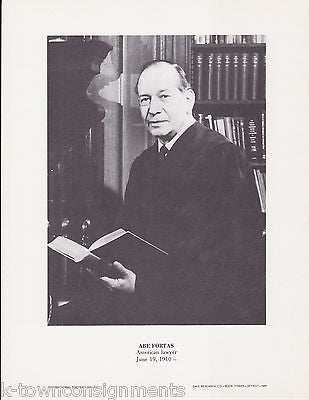 Abe Fortas American Supreme Court Vintage Portrait Gallery Poster Photo Print - K-townConsignments