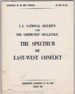 US NATIONAL SECURITY & THE COMMUNIST CHALLENGE VINTAGE COLD WAR ARMY GUIDE BOOK - K-townConsignments