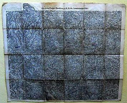 GERMAN MILITARY OFFICER WWI SIGNED LINEN ARMEECORPS MANUEVERS MILITARY FIELD MAP - K-townConsignments