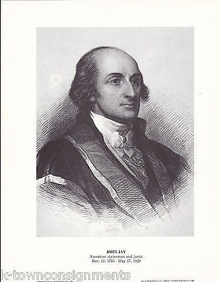 John Jay American Statesman & Jurist Vintage Portrait Gallery Poster Print - K-townConsignments