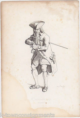 CASSANDRE 1780 EARLY THEATRE ACTOR ANTQIUE MAURICE SAND ENGRAVING PRINT PARIS - K-townConsignments