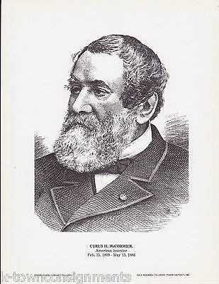 Cyrus McCormick American Inventor Vintage Portrait Gallery Artistic Poster Print - K-townConsignments