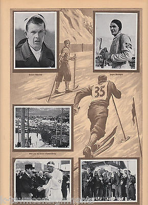 CROSS COUNTRY SKIING OLYMPICS 1936 PHOTO CARDS POSTER PRINT - K-townConsignments