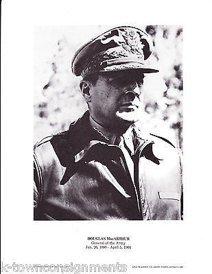 Douglas MacArthur Army General Vintage Portrait Gallery Poster Photo Print - K-townConsignments