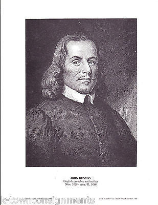 John Bunyan English Preacher & Author Vintage Portrait Gallery Poster Print - K-townConsignments