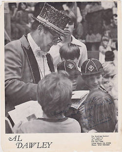 AL DAWLEY AUTOGRAPH SIGNED CUB BOY SCOUTS PHOTO PRINT - K-townConsignments