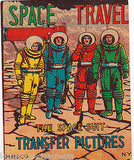SPACE TRAVELERS ASTRONAUTS VINTAGE MP & Co KIDS TRANSFER STICKERS STORE DISPLAY - K-townConsignments