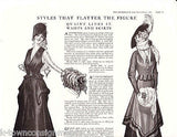 WOMEN DRESS STYLES THAT FLATTER THE FIGURE VINTAGE 1920s ART FASHION AD PRINT - K-townConsignments