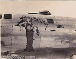 TORCHY 100th BOMBER GROUP WWII MILITARY AVIATION PLANE PIN-UP NOSE ART SNAPSHOT - K-townConsignments