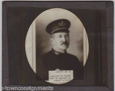 J. M. VANCE DELAWARE CHESTER PENNSYLVANIA CHIEF OF POLICE ANTIQUE GLASS PHOTOS - K-townConsignments