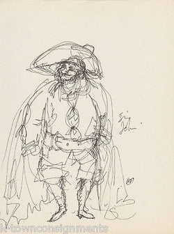 HAL GEORGE SIGNED DELPHI THEATRE COSTUME DESIGN SKETCHE - K-townConsignments