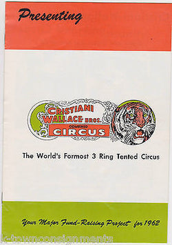 CHRISTIANI WALLACE BROS 3 RING CIRCUS TAMPA , FL VINTAGE GRAPHIC AD PROGRAM BOOK - K-townConsignments