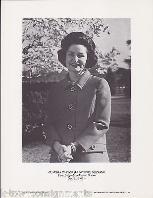 Claudia Taylor Johnson Lady Bird First Lady Vintage Portrait Gallery Photo Print - K-townConsignments