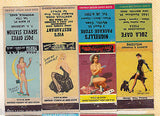 PIN-UP BABES VINTAGE GRAPHIC ART ADVERTISING MATCH BOOK COVERS LOT - K-townConsignments
