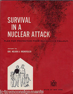 SURVIVAL IN A NUCLEAR ATTACK GRAPHIC PLAN FOR RADIOACTIVE FALLOUT BY ROCKEFELLER - K-townConsignments