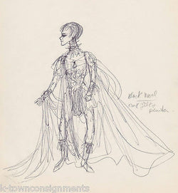 HAL GEORGE SIGNED THEATRE COSTUME DESIGN DRAWINGS - K-townConsignments