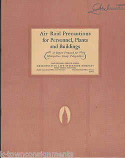 AIR RAID PRECAUTIONS VINTAGE WWII MILITARY HOME FRONT GRAPHIC INFO BOOK - K-townConsignments