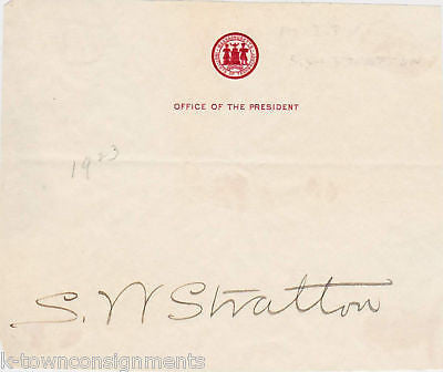 SAMUEL WESLEY STRATTON MIT COLLEGE AUTOGRAPH SIGNATURE - K-townConsignments