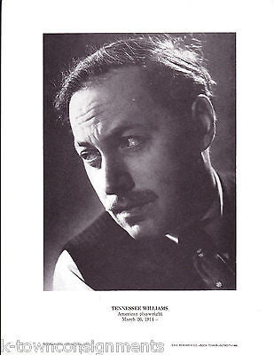 Tennessee Williams American Playwright Vintage Portrait Gallery Poster Print - K-townConsignments