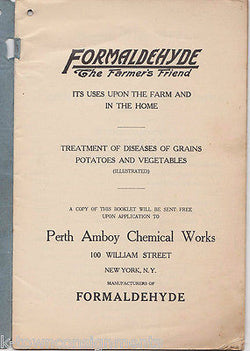FORMALDEHYDE THE FARMER'S FRIEND VINTAGE CHEMICAL WORKS GRAPHIC AD BOOKLETS - K-townConsignments