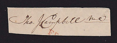 THOMAS JEFFERSON CAMPBELL TN REP AUTOGRAPH SIGNATURE - K-townConsignments