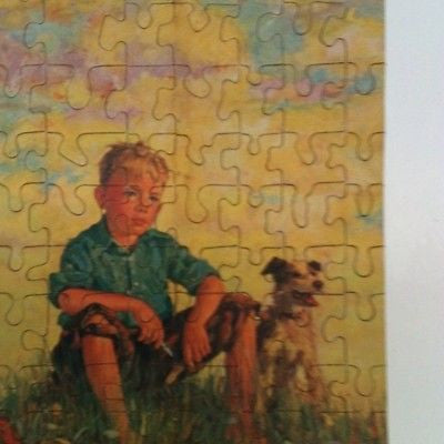 COCOMALT PICTURE PUZZLE VINTAGE CHOCOLATE MILK PROMO AD BY RB DAVIS CO - K-townConsignments