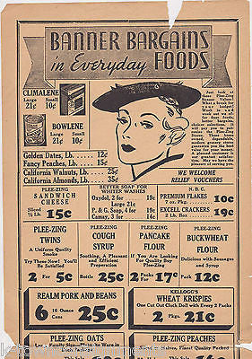 George High Grocery Store Compass PA Antique Art Deco Advertising Sales  Flyer
