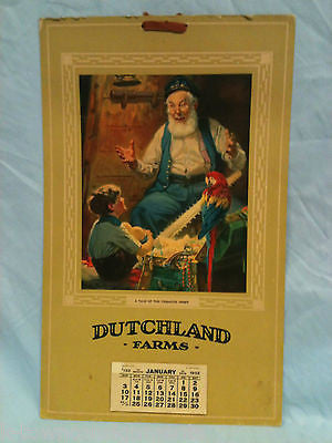 TALE OF THE TREASURE CHEST VINTAGE DUTCHLAND FARMS GRAPHIC ART CALENDAR PRINT - K-townConsignments