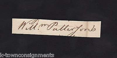 WILLIAM PATTERSON BRANDYWINE VIRGINIA REVOLUTIONARY WAR HERO AUTOGRAPH SIGNATURE - K-townConsignments