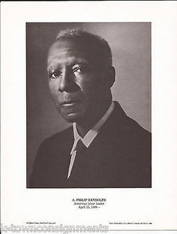 A. Philip Randolph Labor Leader Vintage Portrait Gallery Poster Photo Print - K-townConsignments