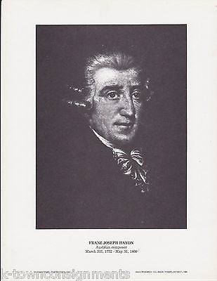 Franz Joseph Haydn Music Composer Vintage Portrait Gallery Artistic Poster Print - K-townConsignments