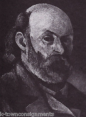 Paul Cezanne French Painter Vintage Portrait Gallery Poster Print - K-townConsignments