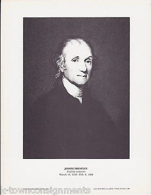 Joseph Priestly English Scientist Vintage Portrait Gallery Artistic Poster Print - K-townConsignments