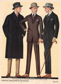 Young Men's Suits National Cloak Suit Company Antique Art Deco Advertising Print