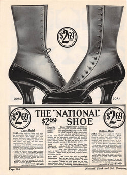 National Cloak & Suit Women's Shoes Antique Graphic Art Fashion Advertising Print 1914