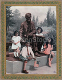 Abraham Lincoln Memorial Vintage African American Children Patriotic Poster Print