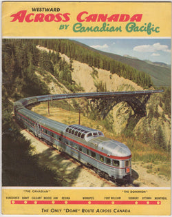 Across Canada by Canadian Pacific Railroad Vintage Graphic Advertising Souvenir Travel Booklet