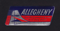 Allegheny Airline Commuter Service Vintage Graphic Advertising Luggage Sticker Decal