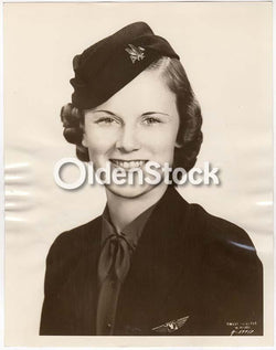 American Airlines Stewardess Jewell Wood Vintage Aviation Advertising Photo