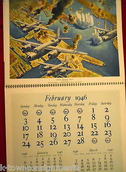 PRATT & WHITNEY WWII MILITARY BOMBER & FIGHTER PLANES VINTAGE POSTER CALENDAR - K-townConsignments