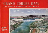 Grand Coulee Dam Vintage Souvenir Travel Ad Book 1940s - K-townConsignments
