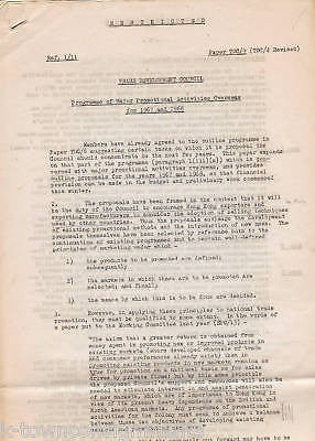 UNITED NATIONS RESTRICTED DOCUMENTS VINTAGE COLD WAR TRADE POLITICS EPHEMERA - K-townConsignments