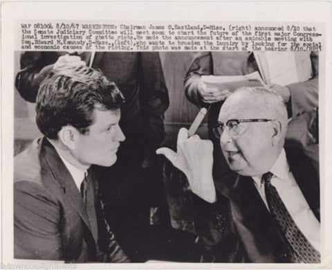 EDWARD KENNEDY US SENATOR VINTAGE 1960s POLITICAL PRESS PHOTO - K-townConsignments