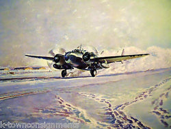 LOCKHEED VENTURA WWII P&W MILITARY AIRCRAFT VINTAGE LITHOGRAPH POSTER PRINT 1946 - K-townConsignments