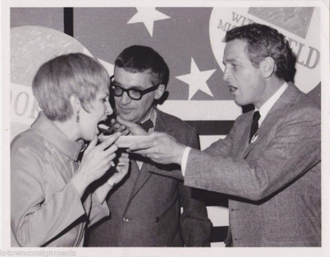 PAUL NEWMAN HOLLYWOOD MOVIE ACTOR VINTAGE POLITICAL PRESS PHOTO - K-townConsignments