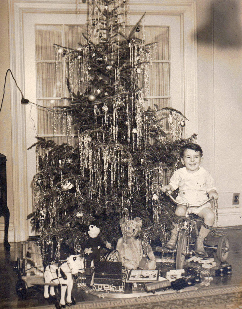 Cute Little Boy Mickey Mouse Christmas Tree Presents Vintage Photo –  K-townConsignments